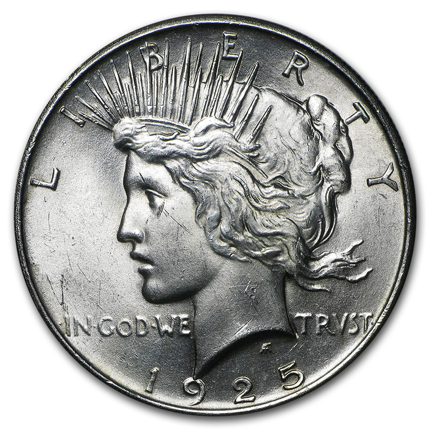 1925 Peace Dollar 20-Coin Roll BU