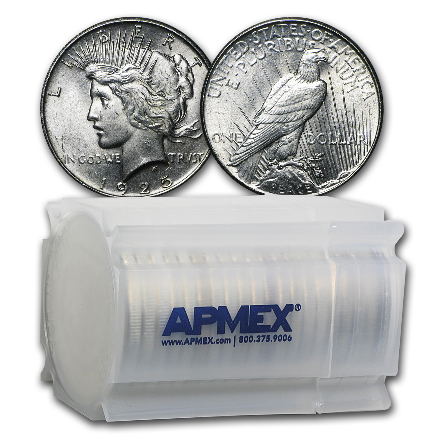 1925 Peace Dollar BU (20-Coin Roll)