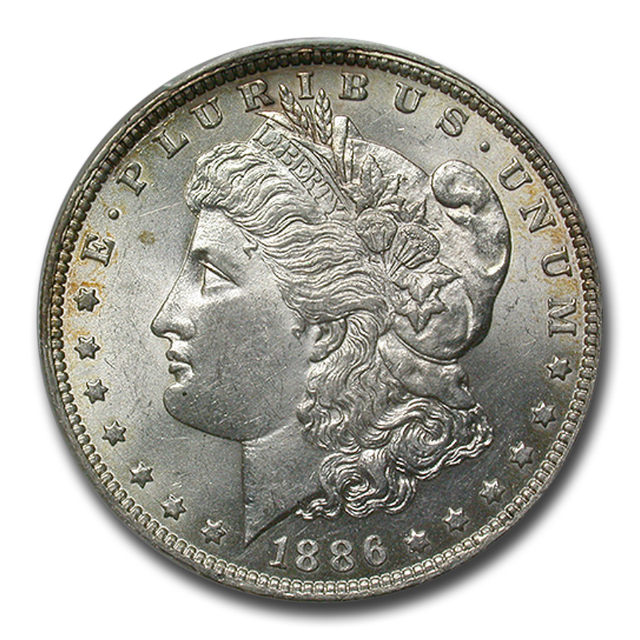 1886-O Morgan Dollar MS-62 PCGS