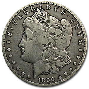 1890-CC Morgan Dollar Fine (VAM-4, TailBar, Top-100)