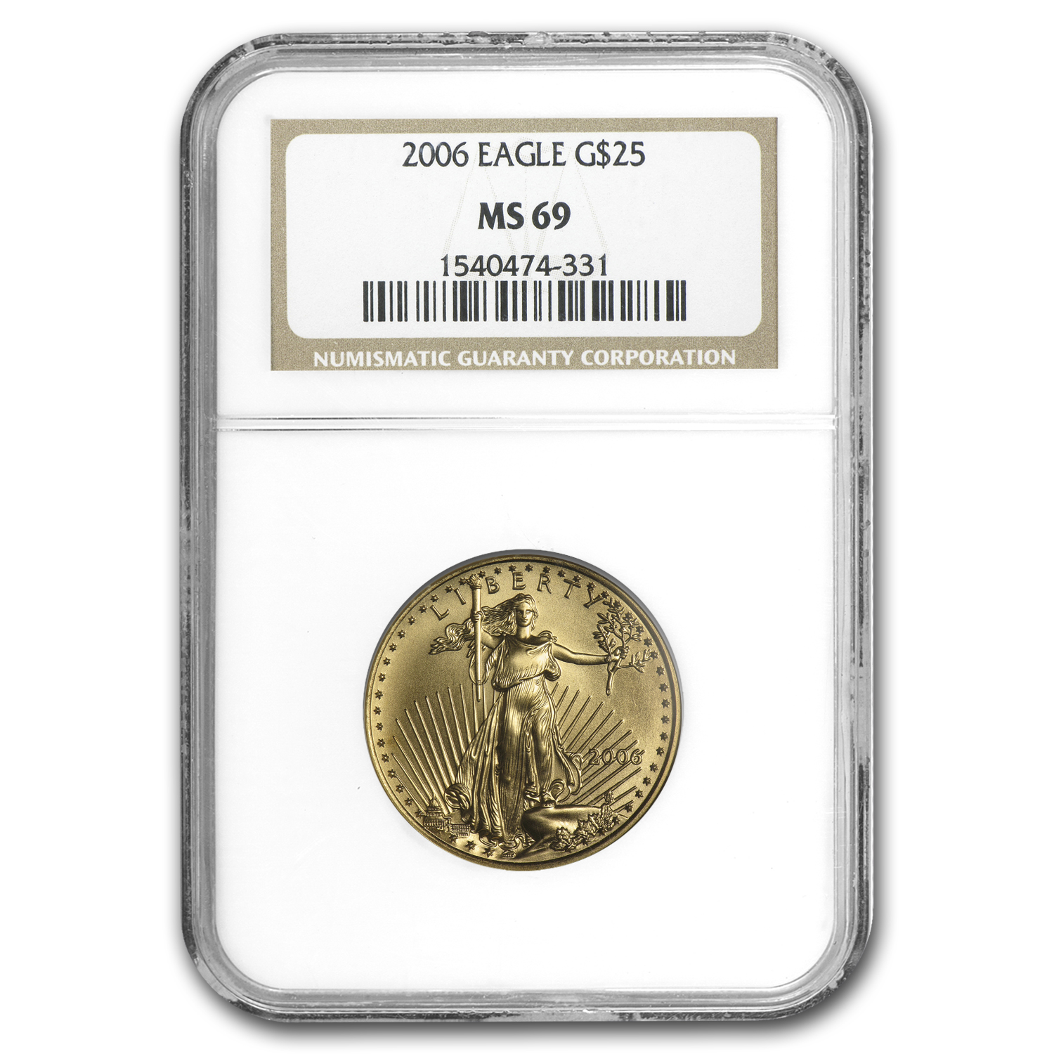 2006 1/2 oz Gold American Eagle MS-69 NGC