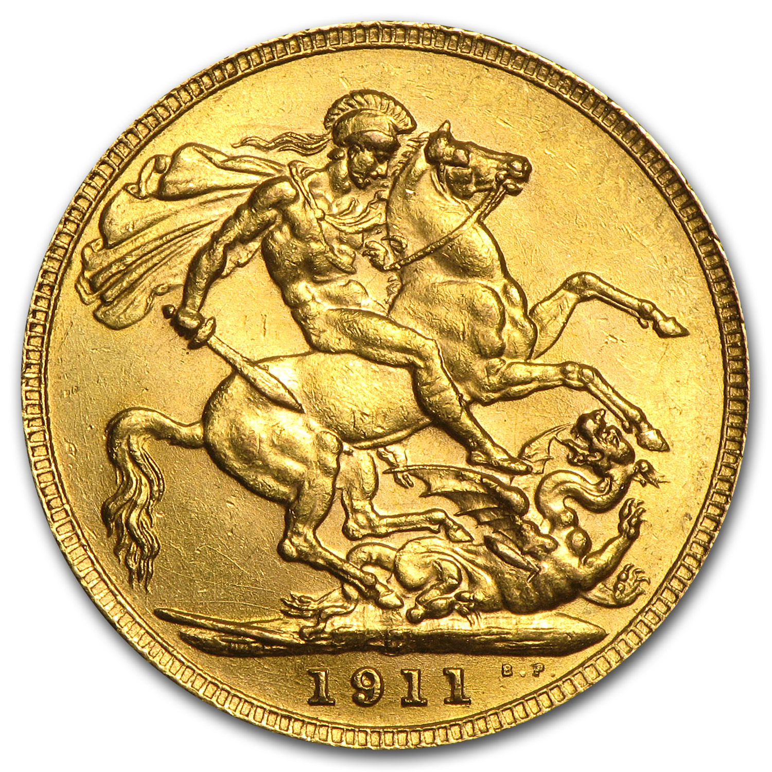 Canada 1911-C Gold Sovereign George V AU/Unc
