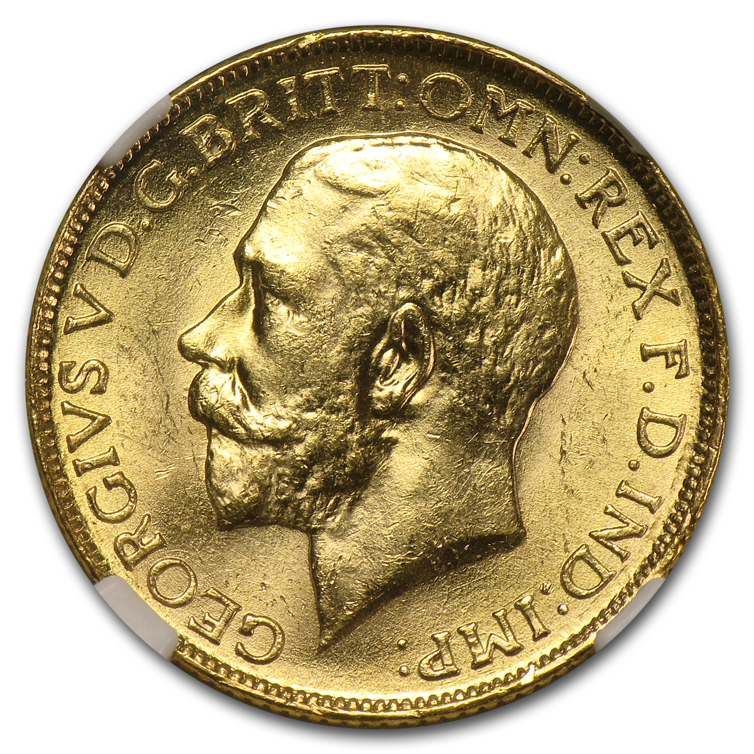 India 1918 Sovereign of George V PCGS/NGC MS64
