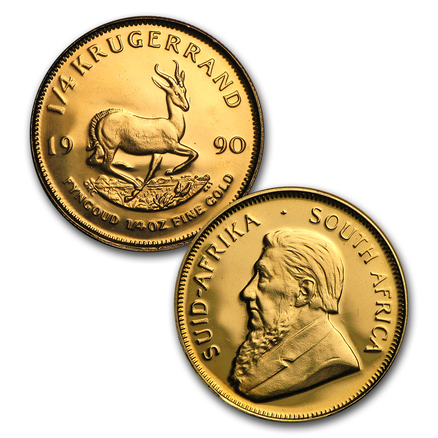1990 South Africa 4-Coin Gold Krugerrand Proof Set