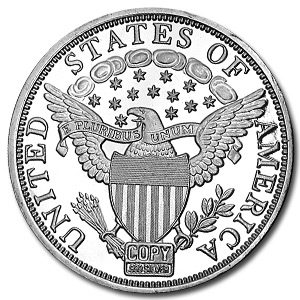 2 oz Silver Round - Draped Bust Dollar (Replica)