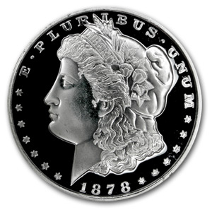 6 oz Silver Rounds - Morgan Dollar (Prooflike)
