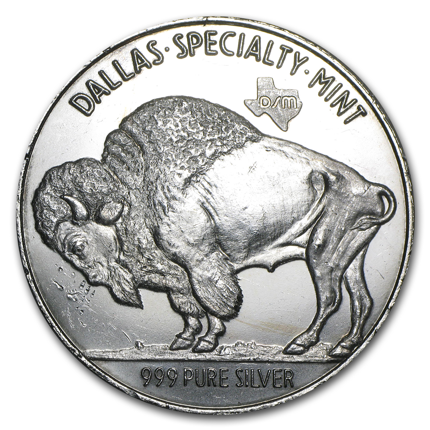2 oz Silver Round - Buffalo Nickel (Dallas Specialty Mint)