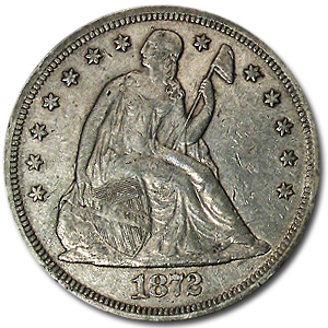 1872 Liberty Seated Dollar Extra Fine