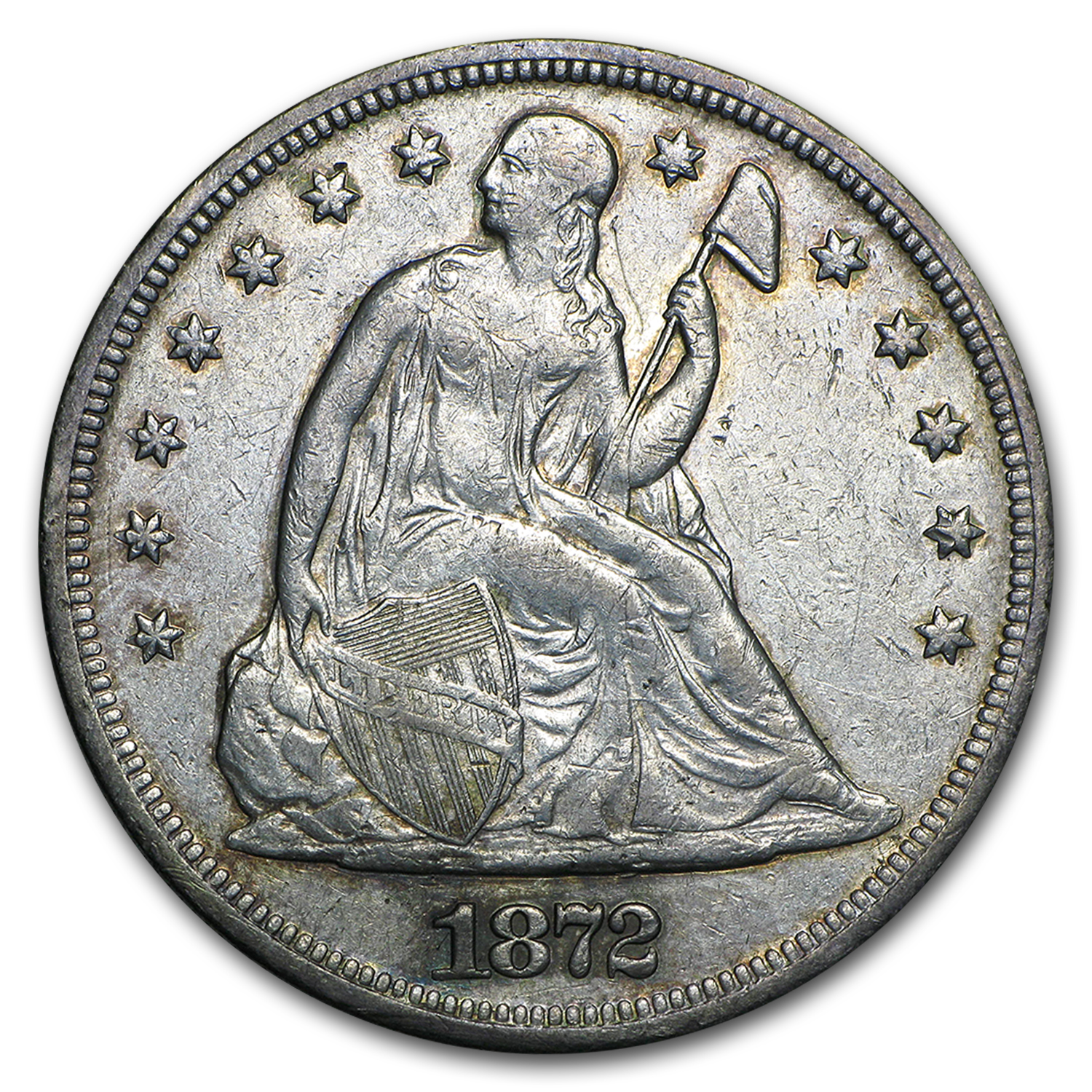 1872 Liberty Seated Dollar XF