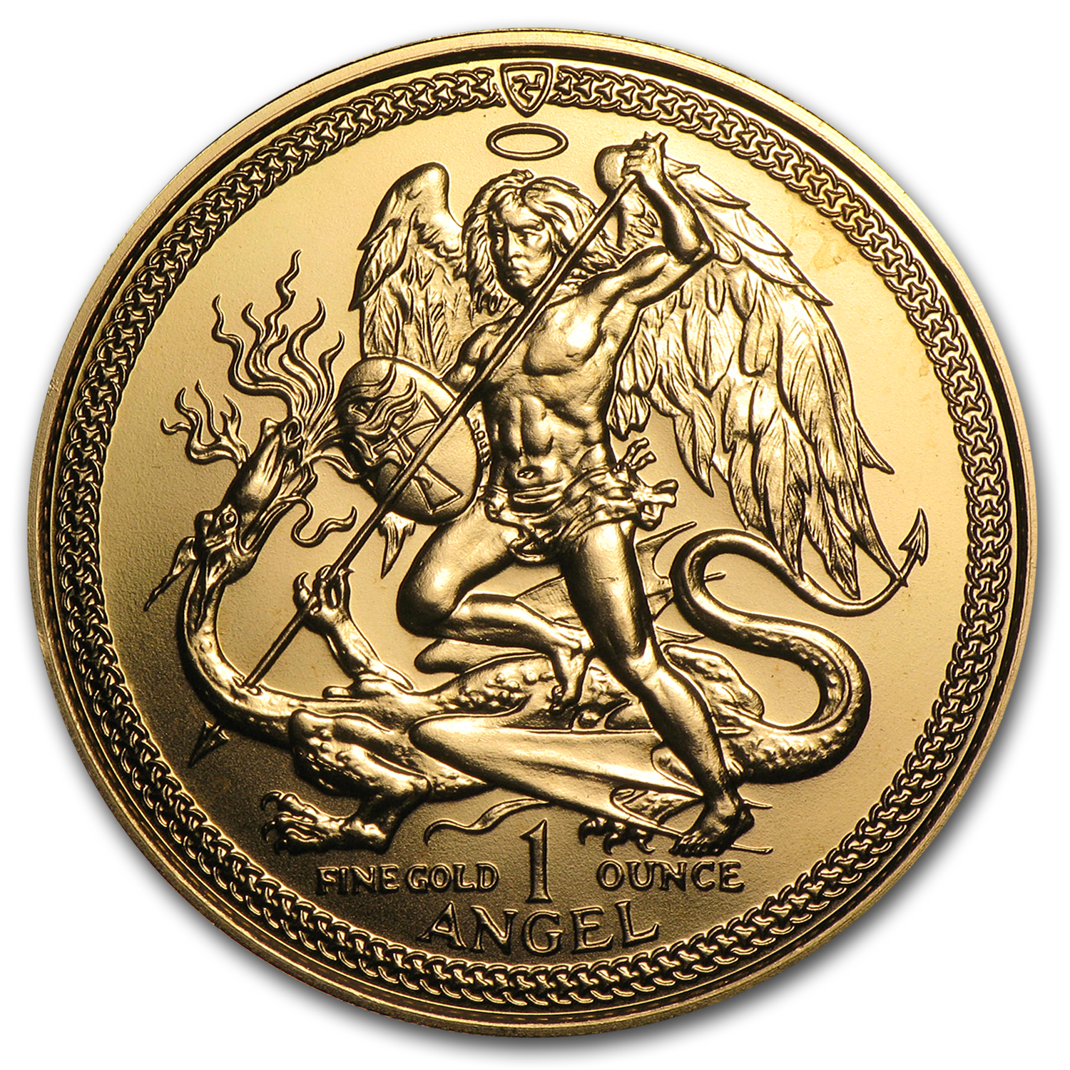 Isle of Man 1 oz Gold Angel BU/Proof (Random Year)