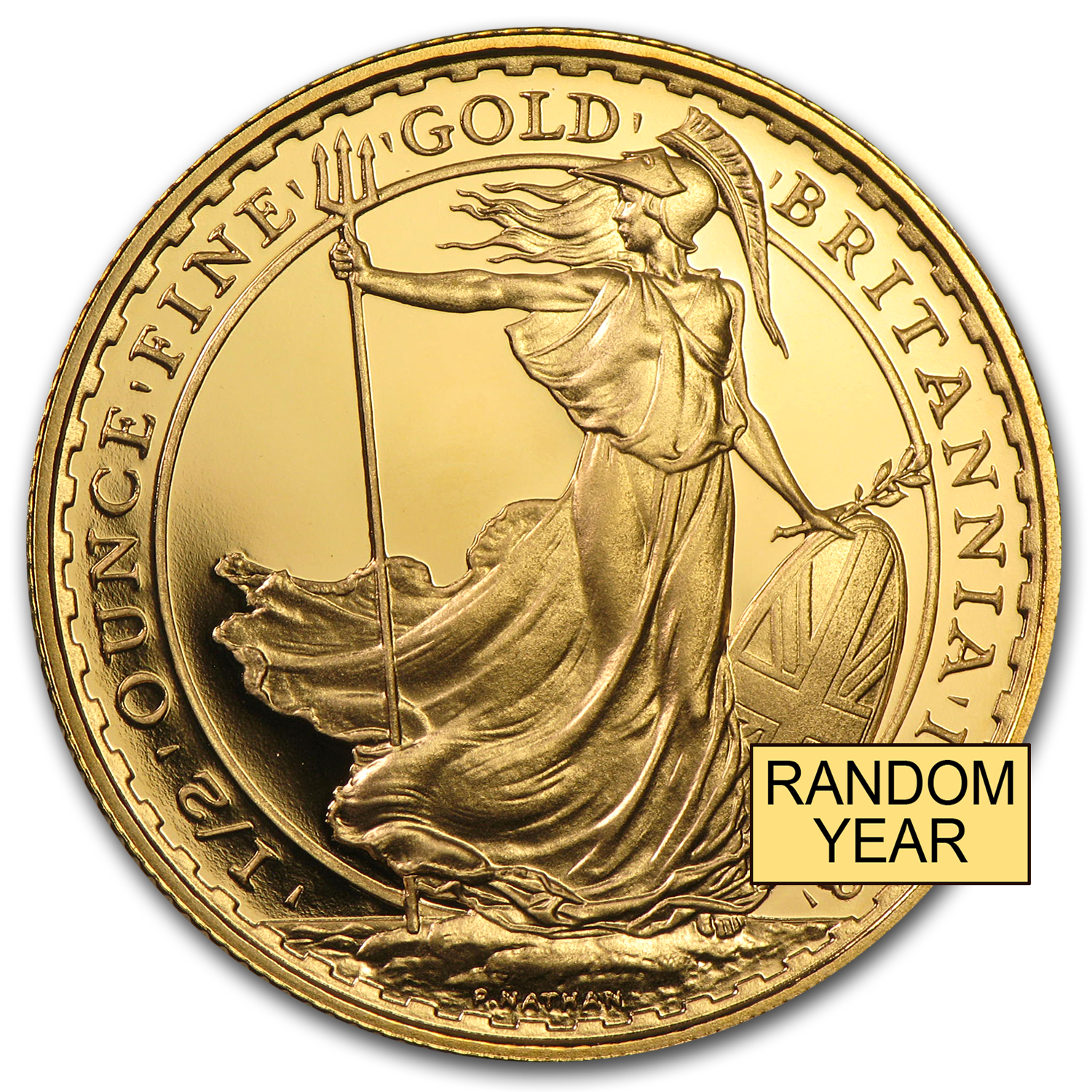 1/2 oz Gold Britannia BU/Proof - Random Year