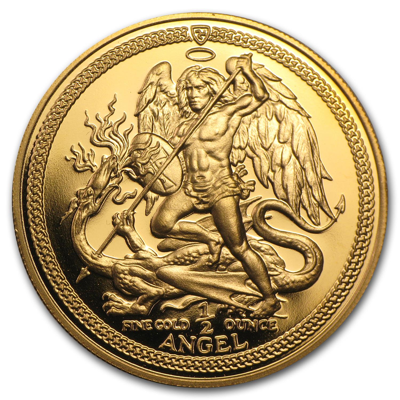 Isle Of Man 1 2 Oz Gold Angel Bu Proof Random Year
