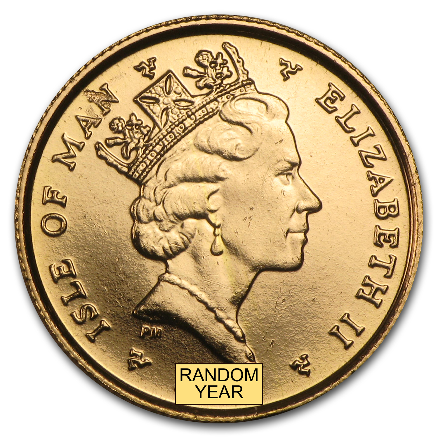 Isle of Man 1/10 oz Gold Angels (Proof or Unc) - Random Years