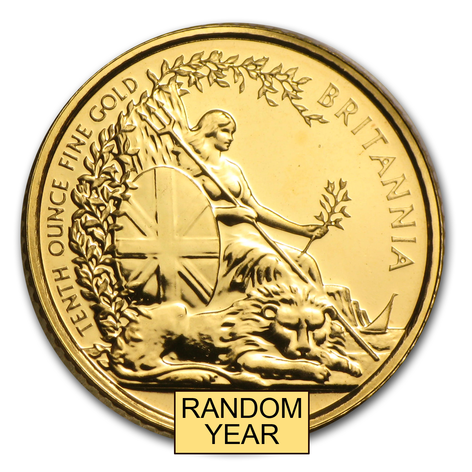 1/10 oz Gold Britannia Random Year - Proof &/or Uncirculated