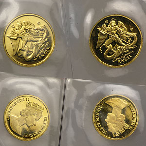 Isle of Man 1/20 oz Gold Angels (Proof and/or Unc) Random Year