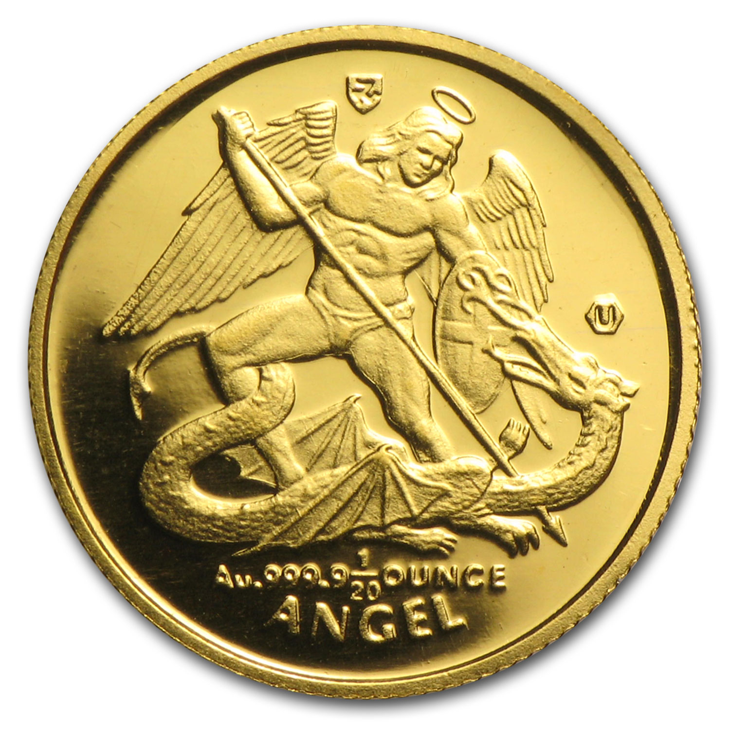 Isle of Man 1/20 oz Gold Angel BU/Proof (Random Year)