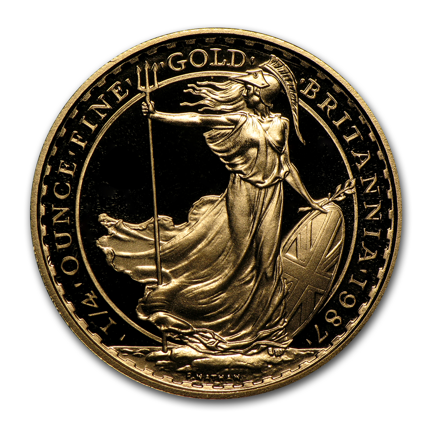 1987 1/4 oz Proof Gold Britannia