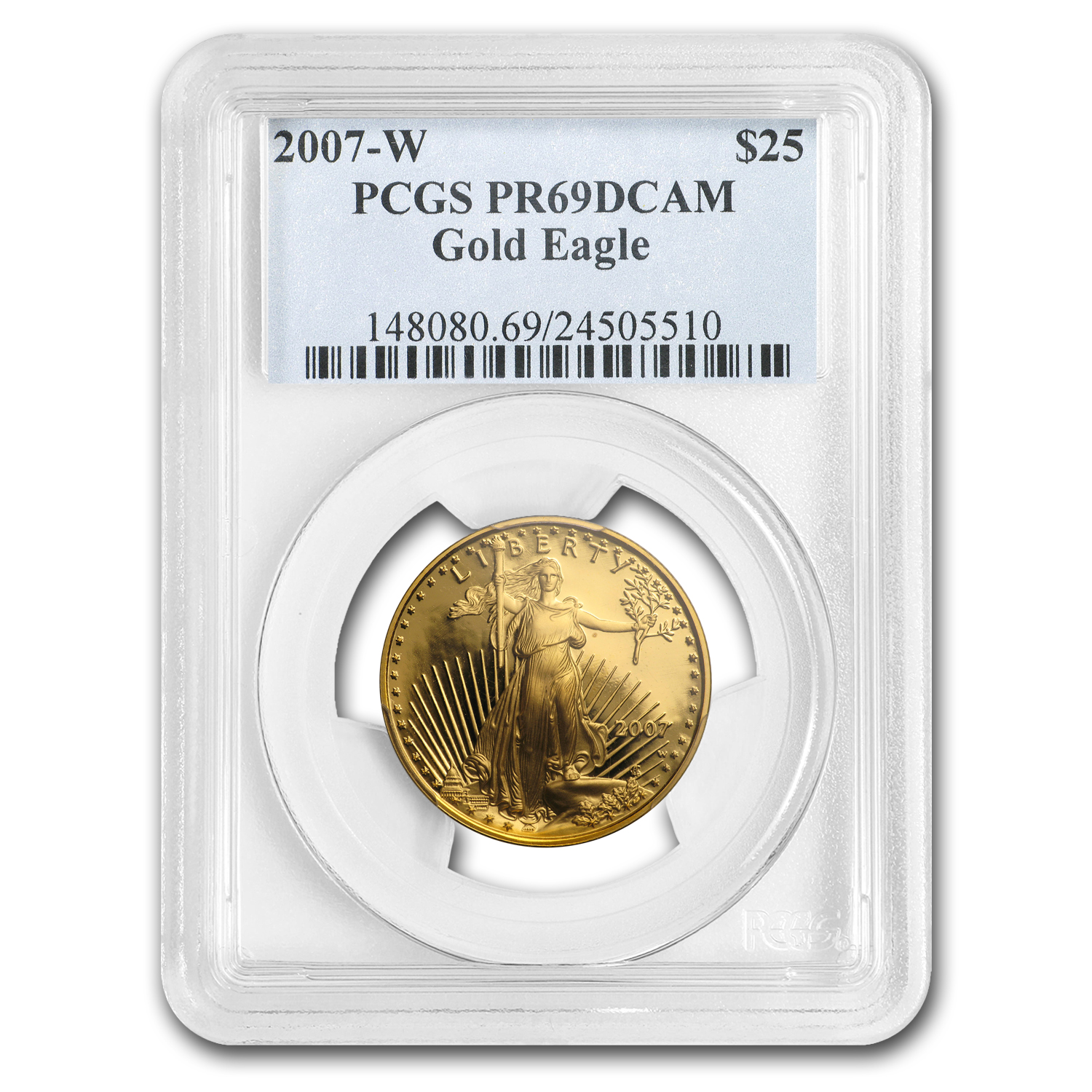 2007-W 1/2 oz Proof Gold American Eagle PR-69 PCGS
