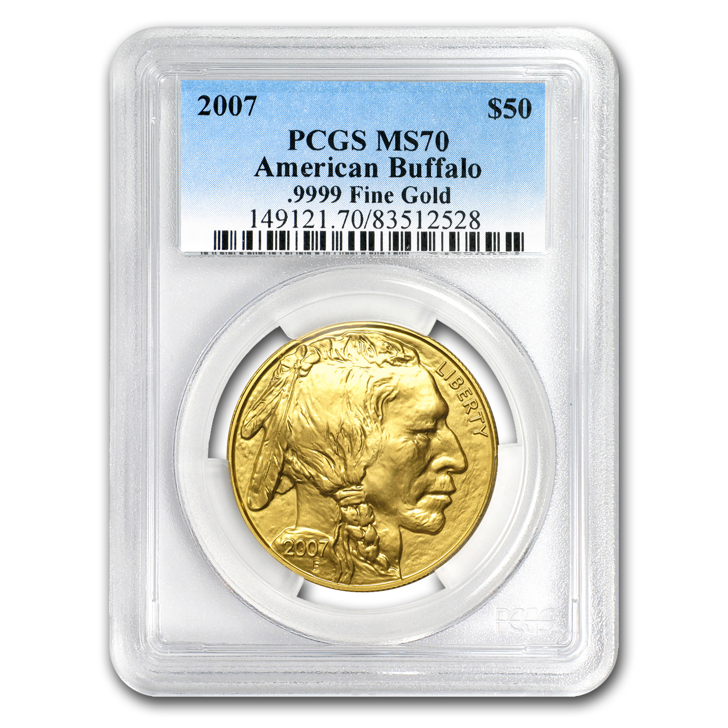 2007 1 oz Gold Buffalo MS-70 PCGS