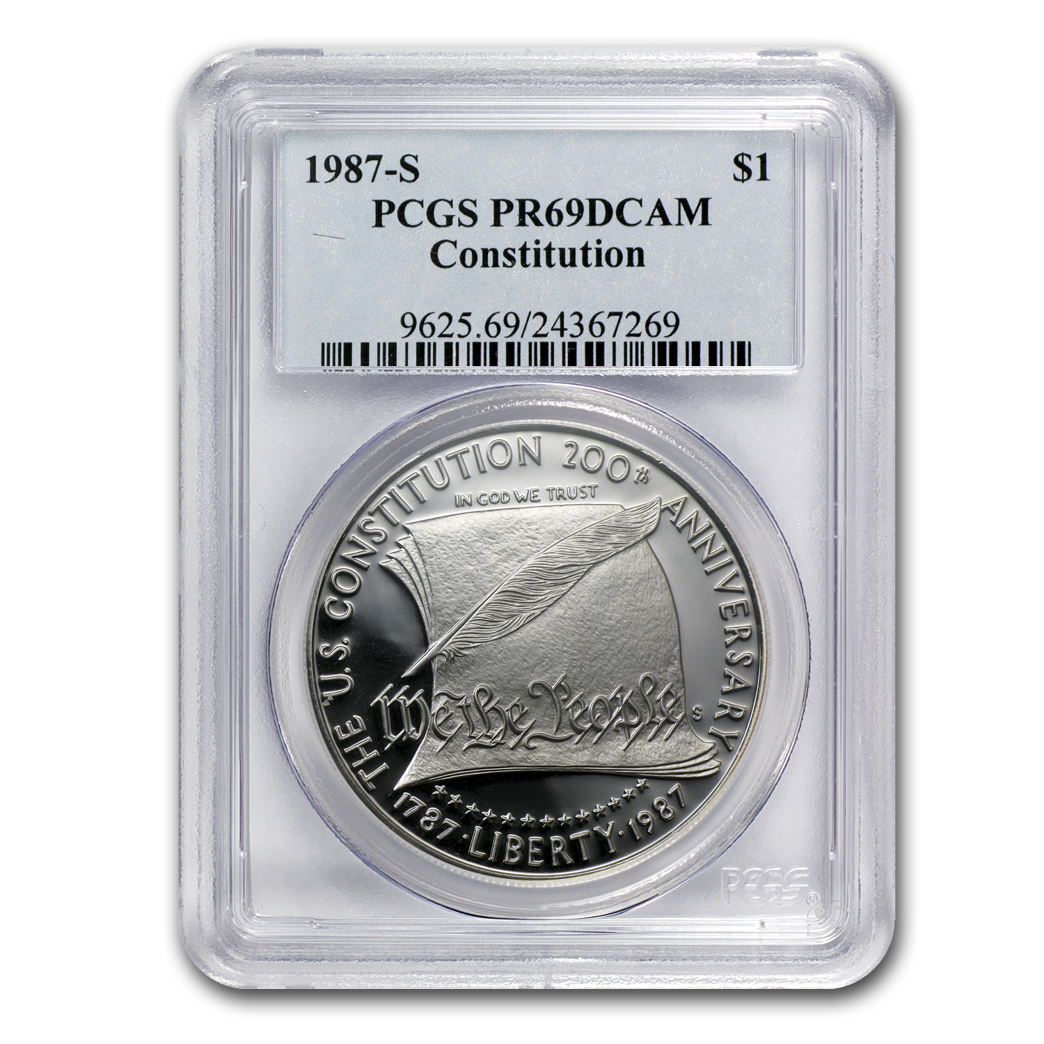 1987-S Constitution $1 Silver Commemorative PR-69 PCGS