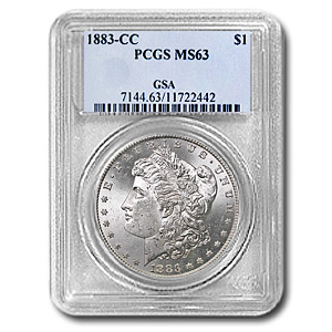 1883-CC Morgan Dollar - MS-63 PCGS - GSA