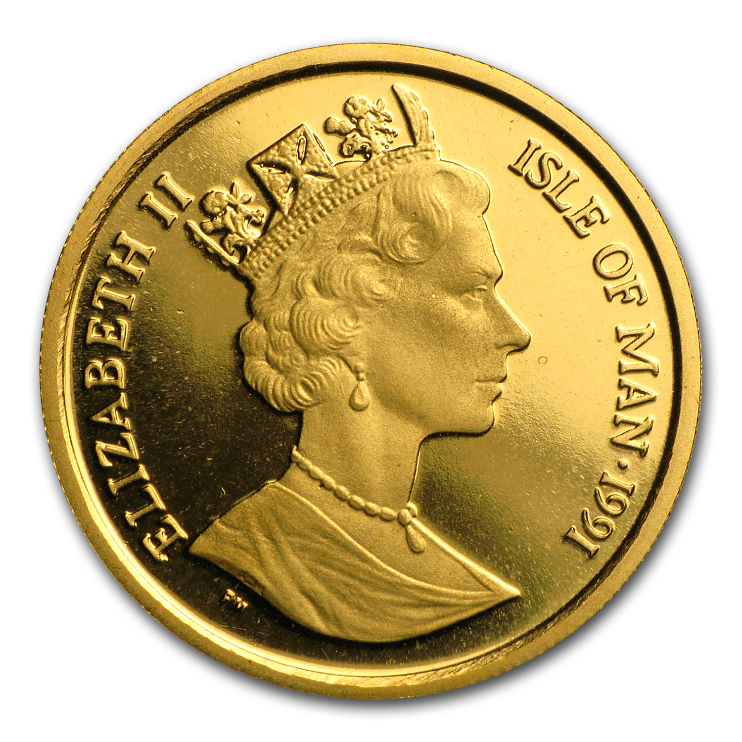 1991 Isle of Man 1/5 oz Gold Norwegian Cat