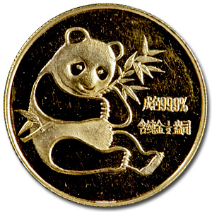 1982 1/2 oz Gold Chinese Pandas (Scruffy)