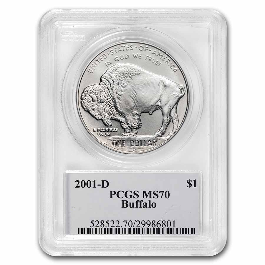 2001-D Buffalo $1 Silver Commem MS-70 PCGS