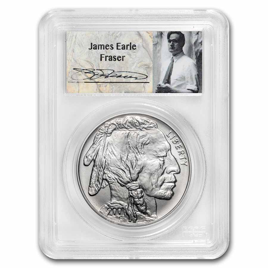 2001-D Buffalo $1 Silver Commemorative - MS-70 PCGS