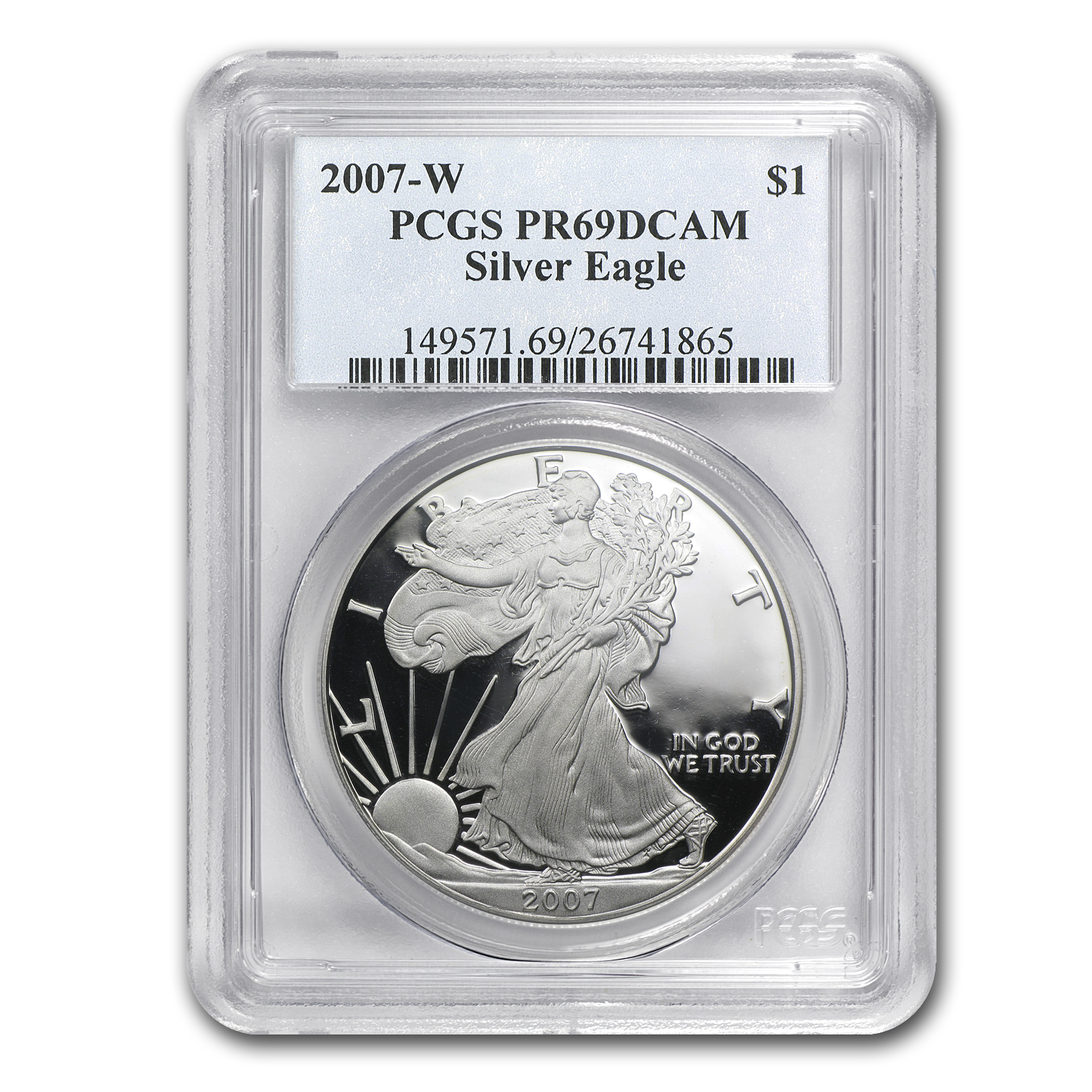 2007-W Proof Silver American Eagle PR-69 PCGS