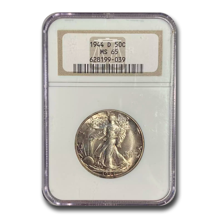 1944-D Walking Liberty Half Dollar MS-65 NGC