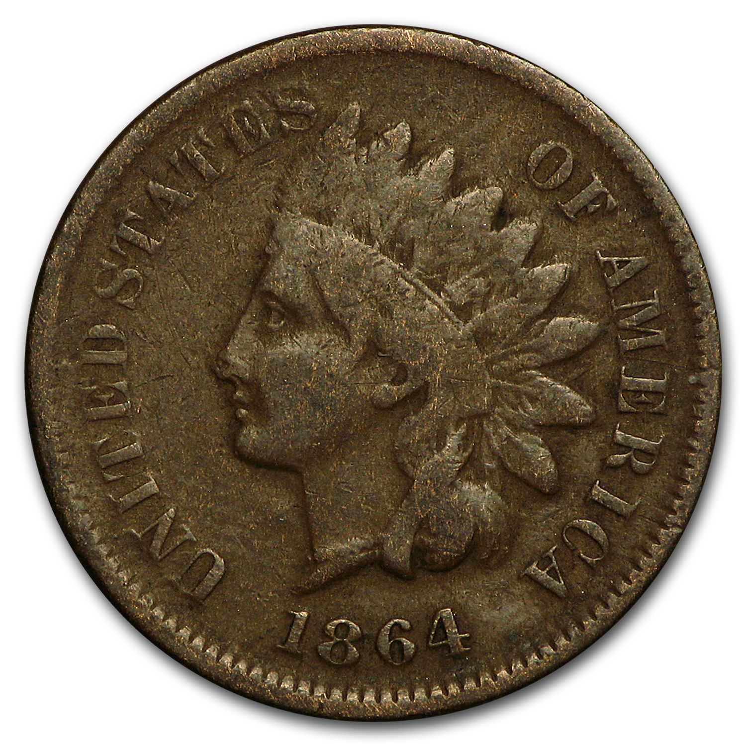 1864 L Indian Head Cent Vg Indian Head Cents 1859