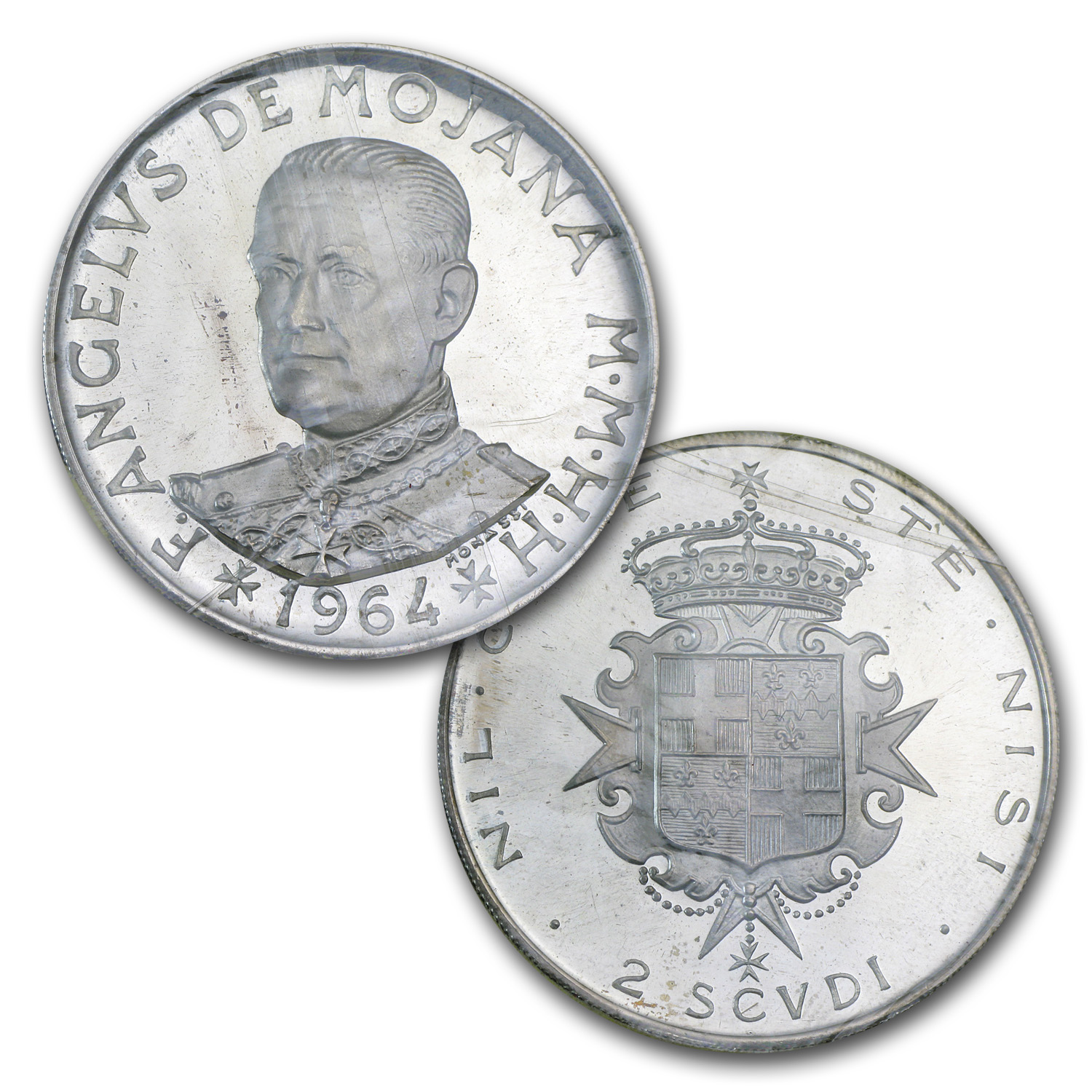 1964 Malta 2-Coin Silver Proof Set