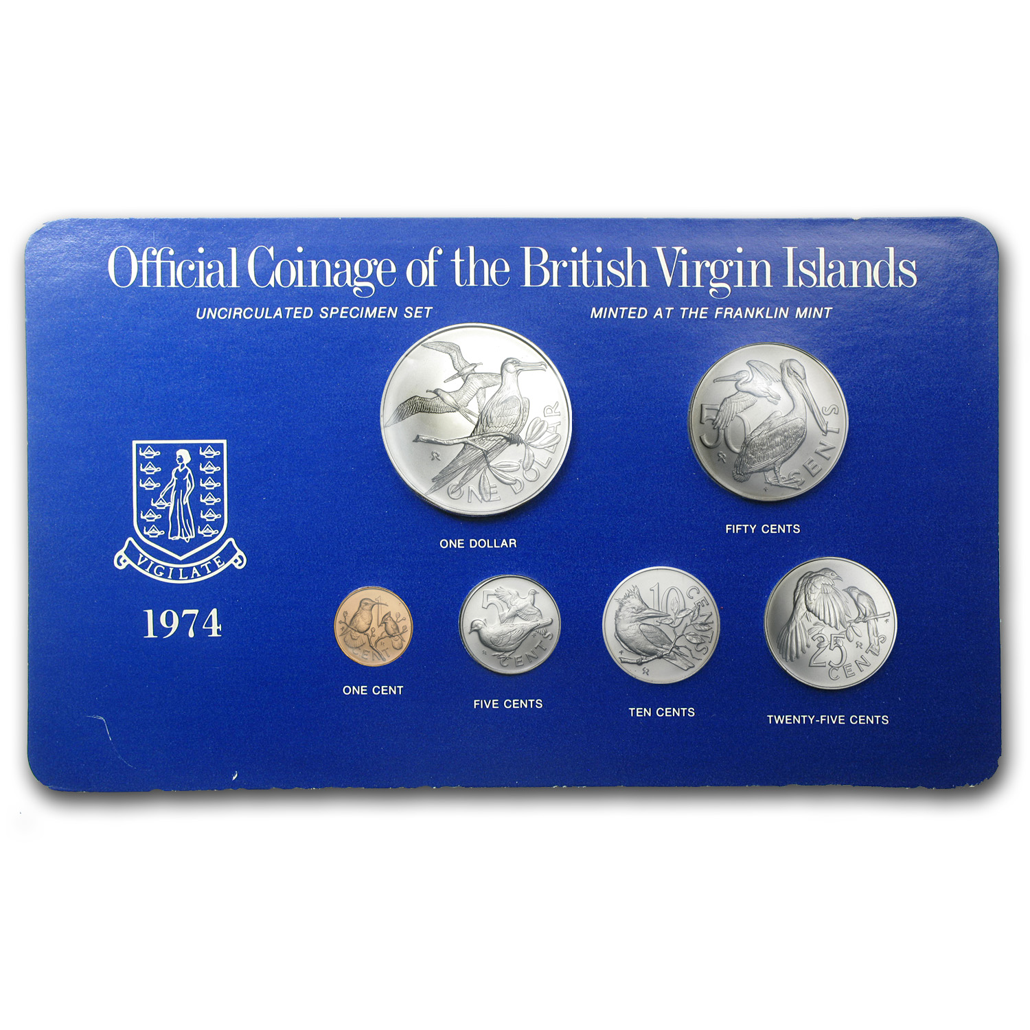 1974 British Virgin Islands 6-Coin Specimen Set BU