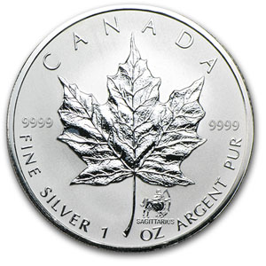 2004 Silver Maple Leaf 12 Coin Western Zodiac Privy (Box & COA)