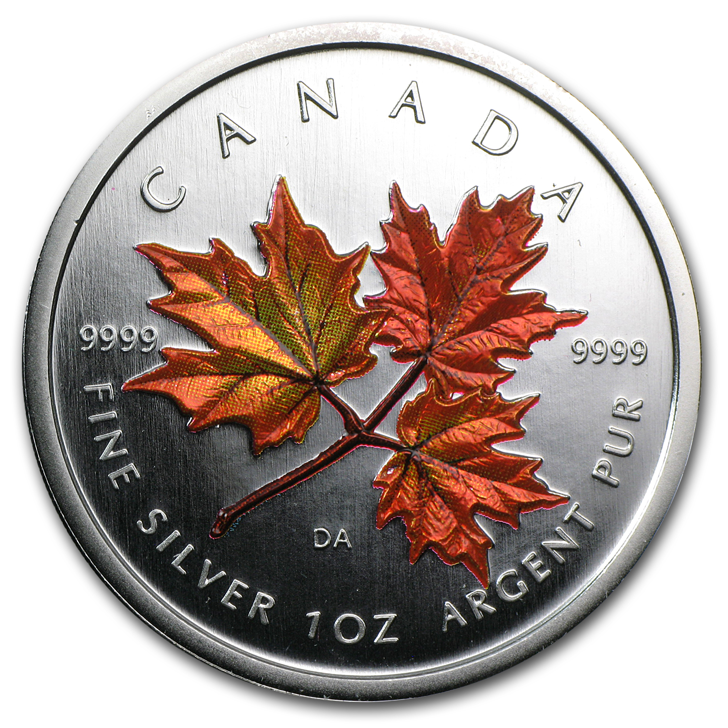 2001 Canada 1 oz Silver Maple Leaf Autumn (Box, w/out COA)