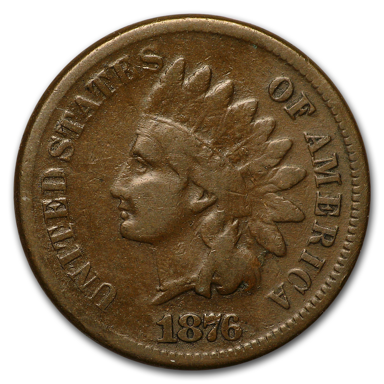 1876 Indian Head Cent VG