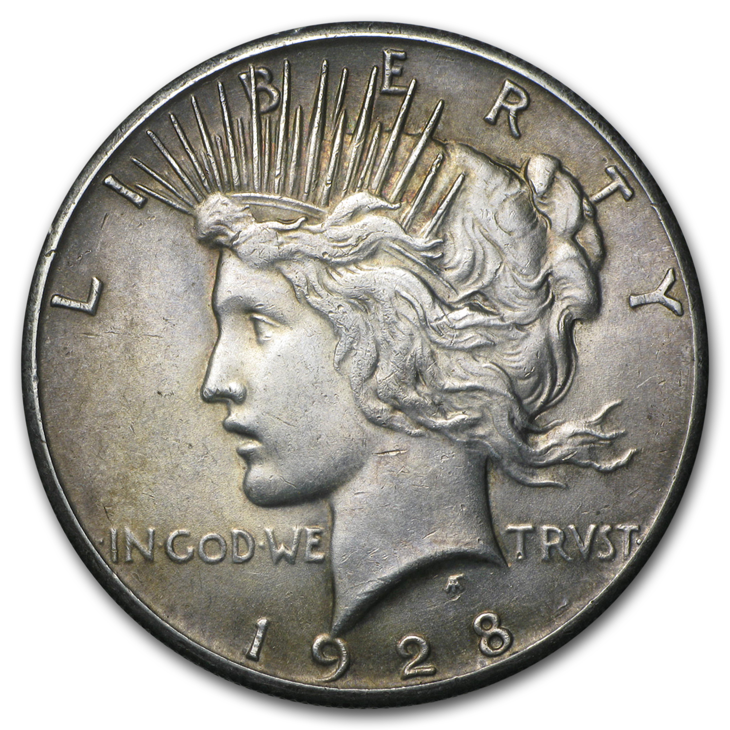 1928 Peace Dollar Au Cleaned Value Of Silver