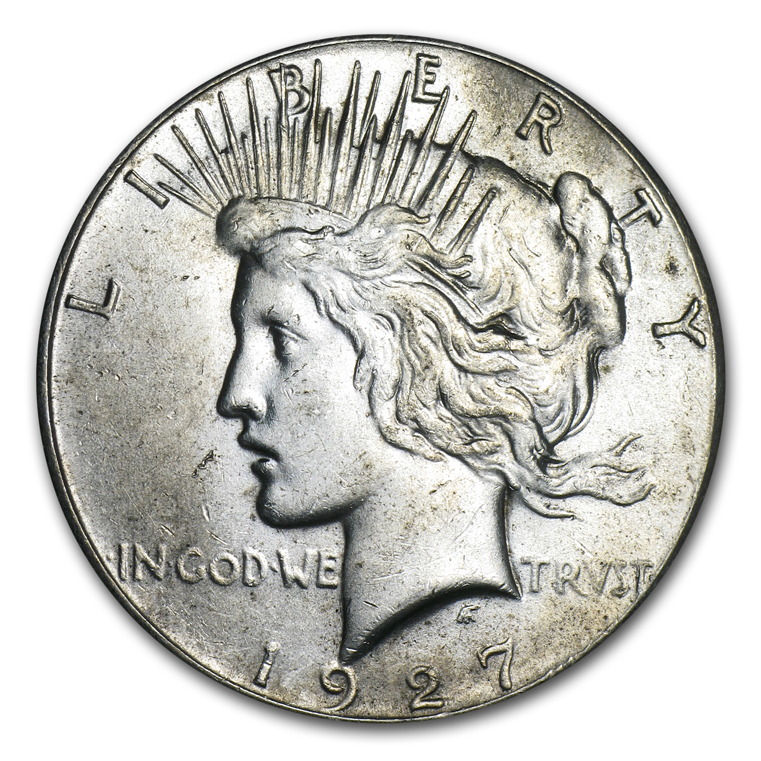 1927 Peace Dollar - Almost Uncirculated-58