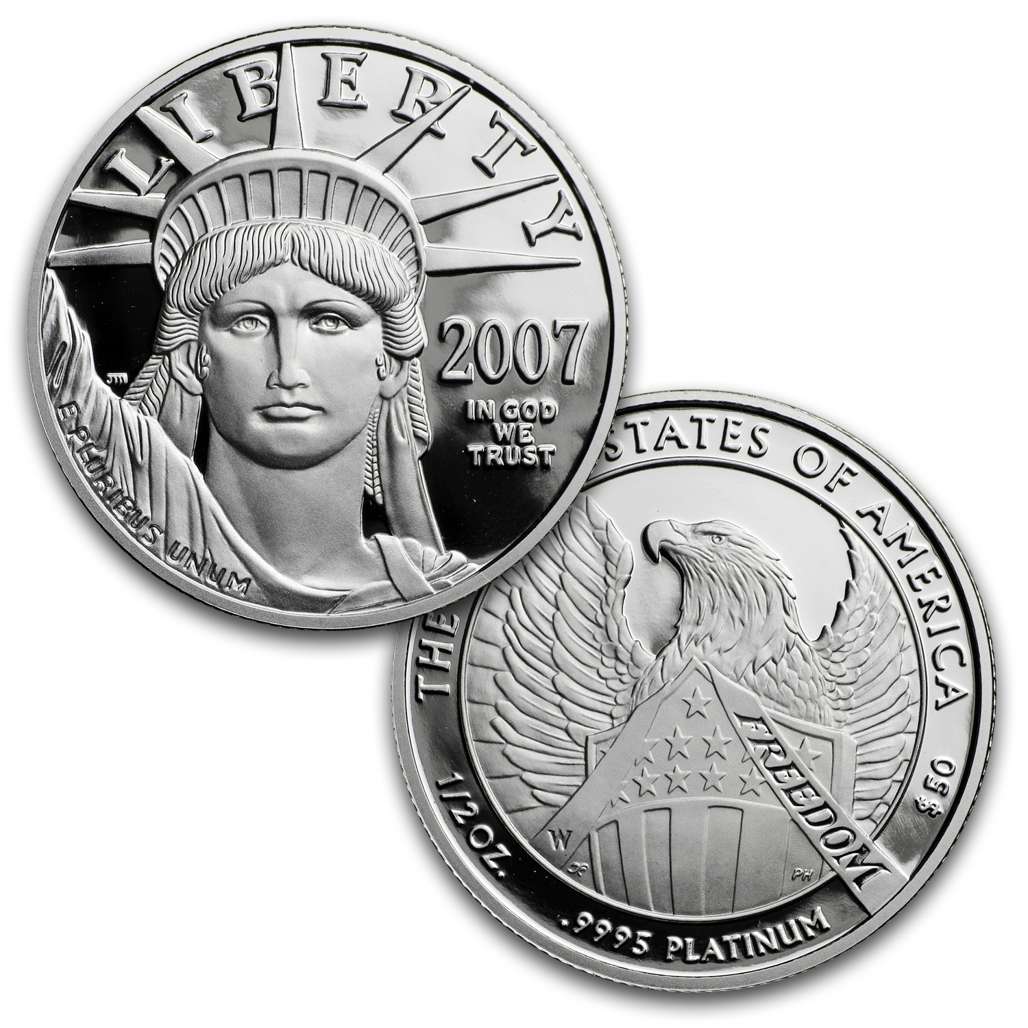 2007-W 4-Coin Proof Platinum American Eagle Set (w/Box & COA)