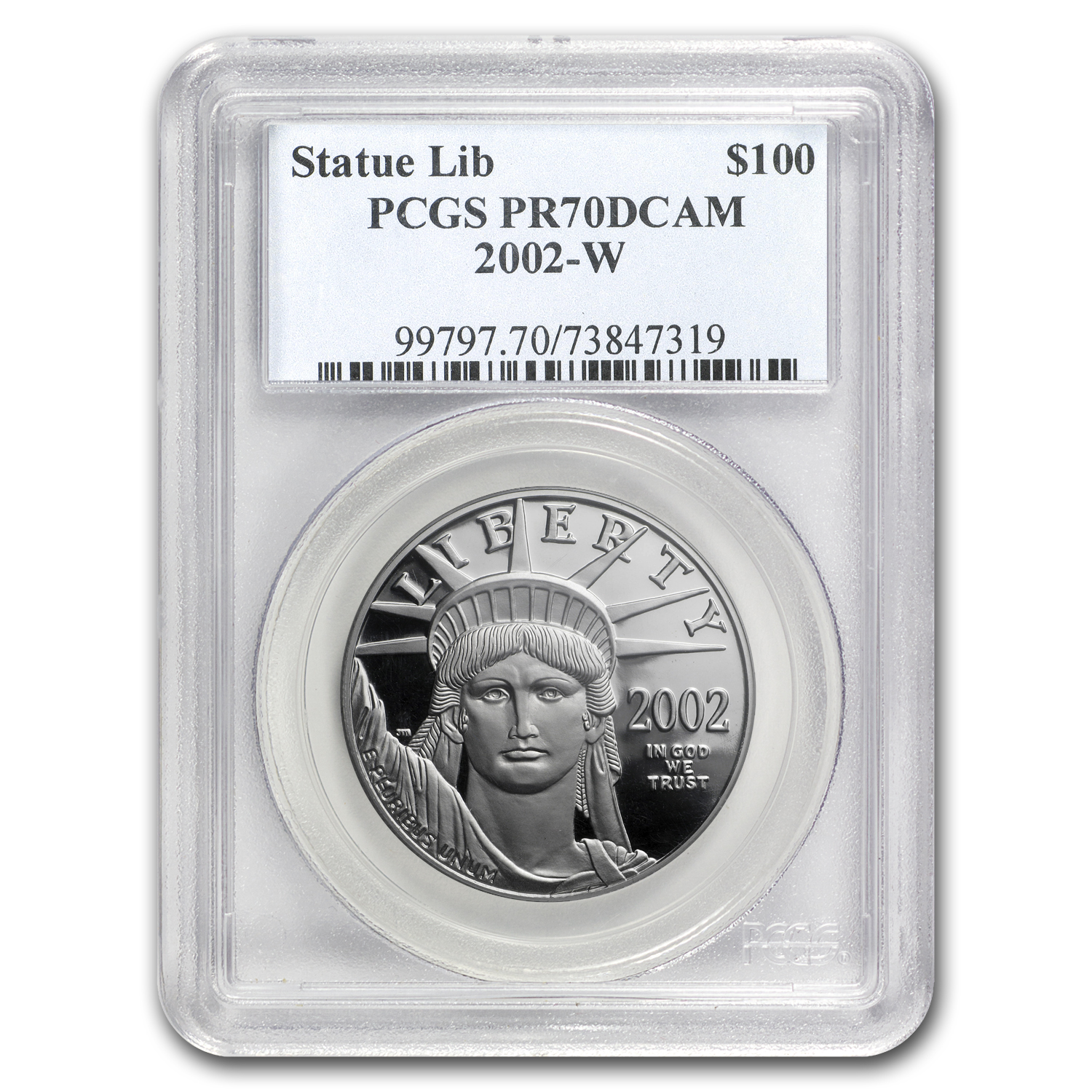 2002-W 1 oz Proof Platinum American Eagle PR-70 PCGS Registry Set