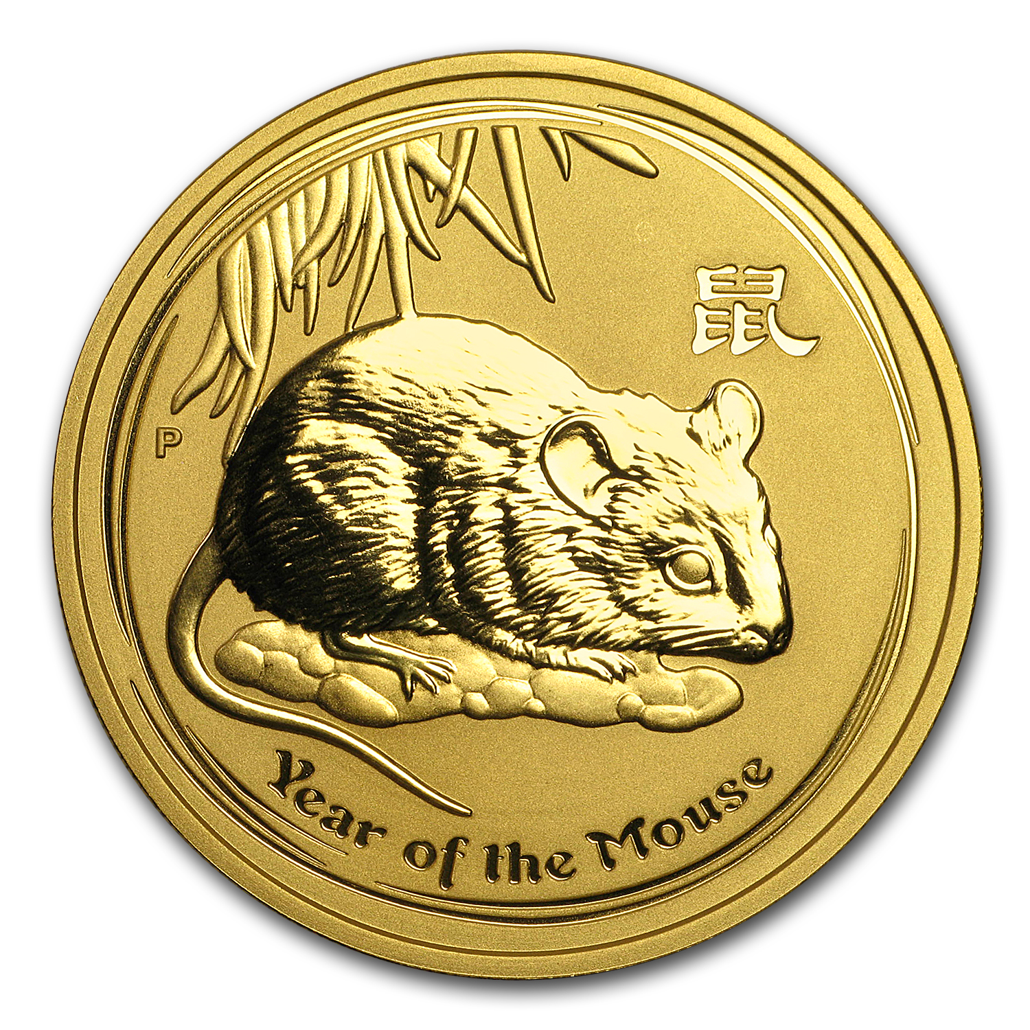 2008 Australia 2 oz Gold Lunar Mouse BU (Series II)