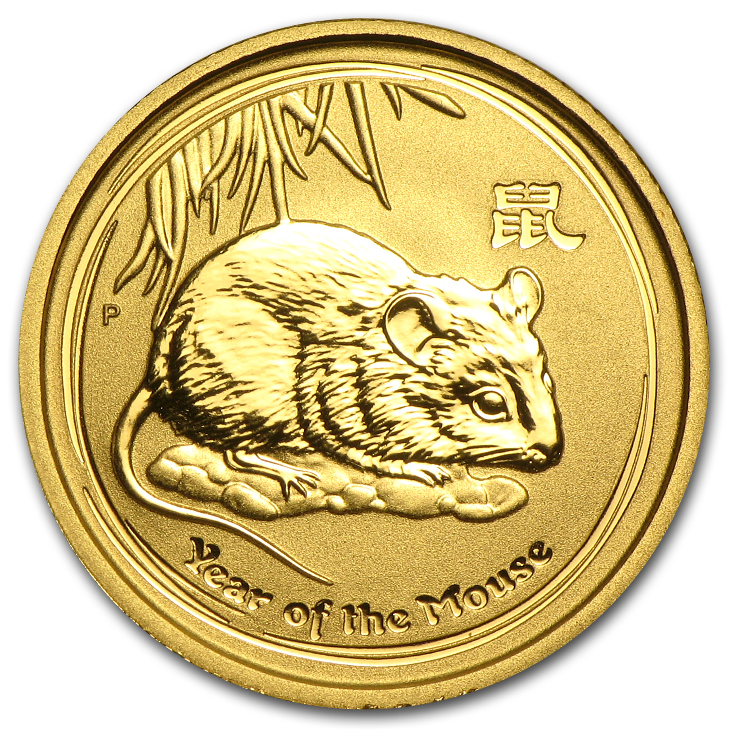 2008 1/10 oz Gold Lunar Year of the Mouse BU (Series II)