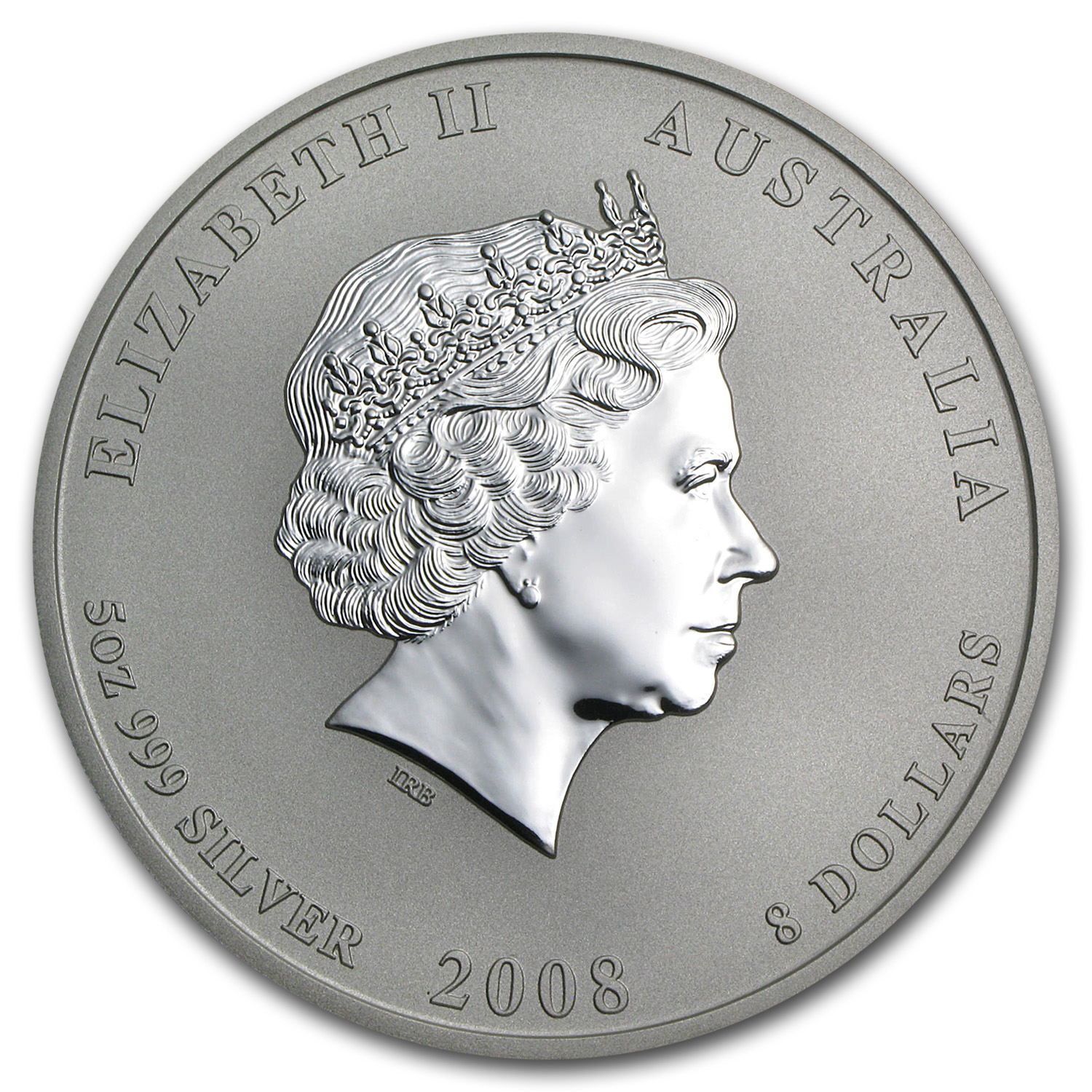 2008 Australia 5 oz Silver Year of the Mouse BU (Series II)