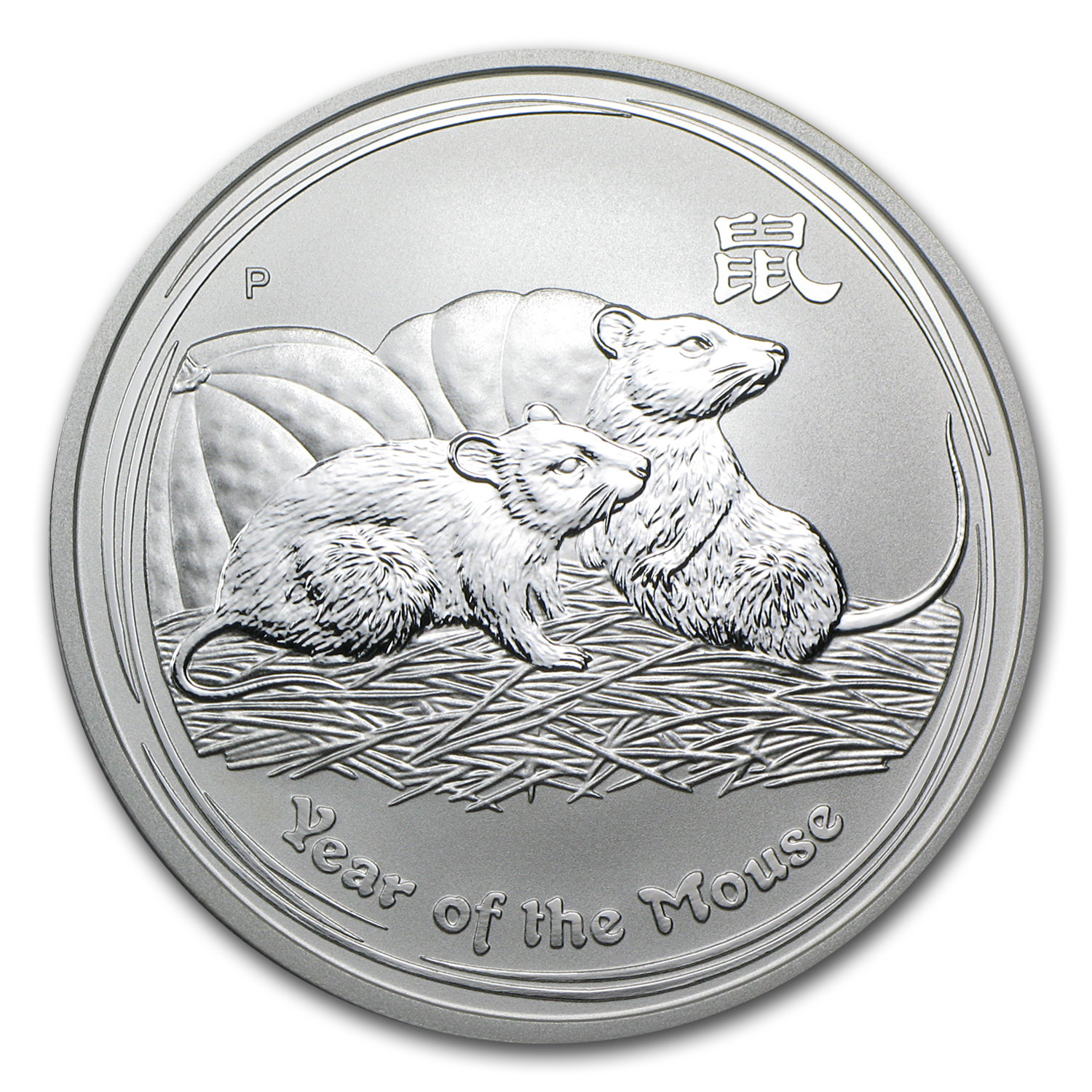 2008 1 oz Silver Australian Year of the Mouse BU (Series II)