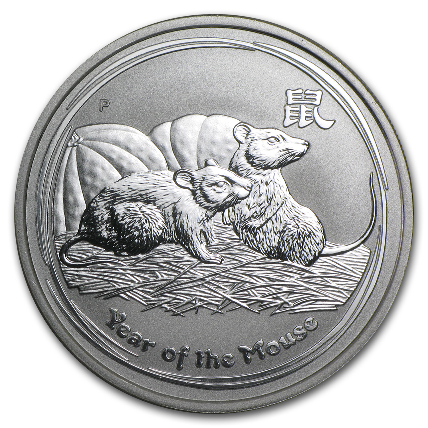 2008 Australia 1/2 oz Silver Year of the Mouse BU (Series II)