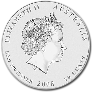 2008 1/2 oz Silver Australian Year of the Mouse Coin (Series II)