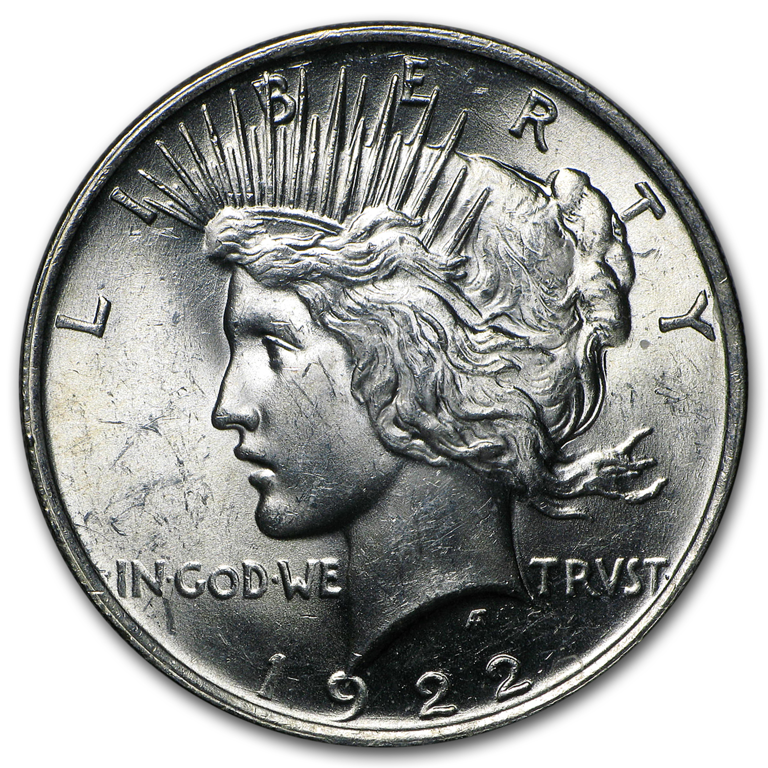 1922 Peace Dollar 20-Coin Roll BU