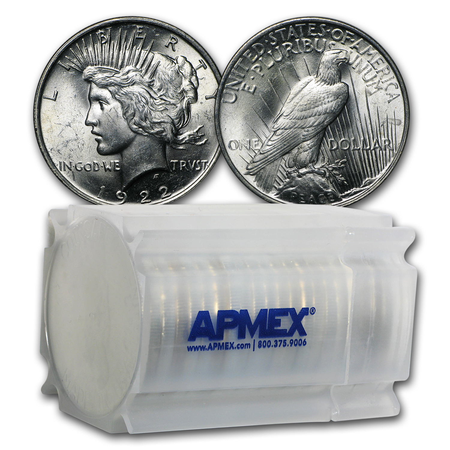 1922 Peace Dollar - Brilliant Uncirculated Roll 20 Coins