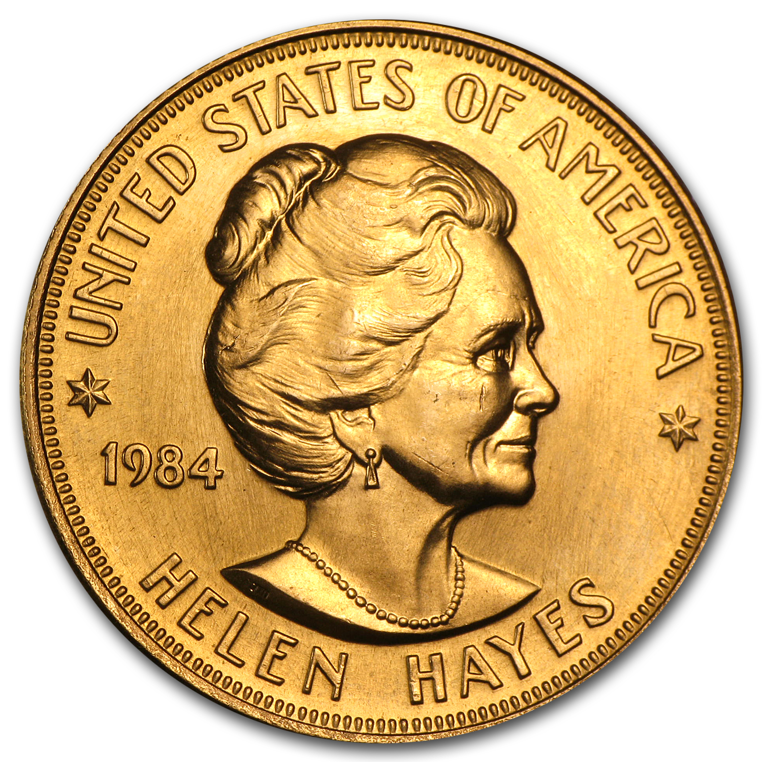 U.S. Mint 1 oz Gold Commemorative Arts Medal Helen Hayes